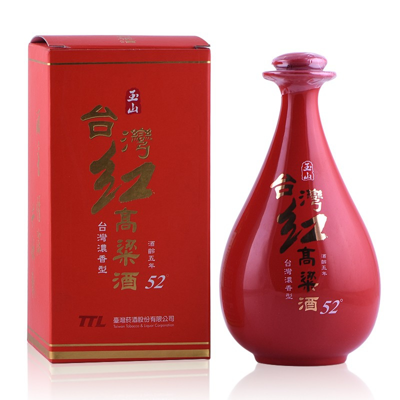 玉山台湾红高粱   (红瓷瓶)52°500ml